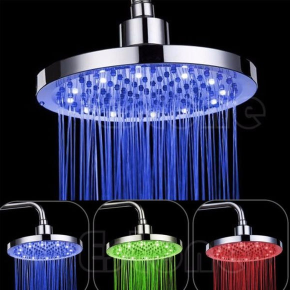 Brand New, 8 inches changing colour shower head