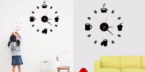 Fashion Acrylic DIY Self Adhesive Interior Wall Creative Decoration Clock
