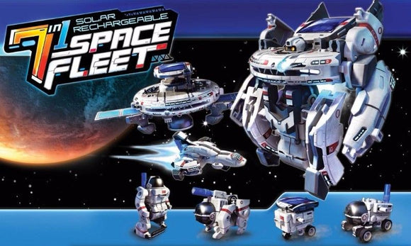 Brand New, EDUCATIONAL, FUN, 7-IN-1 SOLAR SPACE FLEET