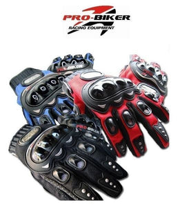 "Pro-biker ""BLACK"" Motorcycle Motocross Racing Cycling OutdoorSport Gloves ~ XL"