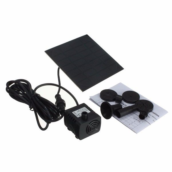 Brand New, Solar Panel Power Water Pump Kit For Submersible Fountain Pond