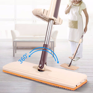 Telescopic Mop Free Hand Washing Floor Wipe Scurb Flat Mops Household 360 Degree Rotate Clean Tool