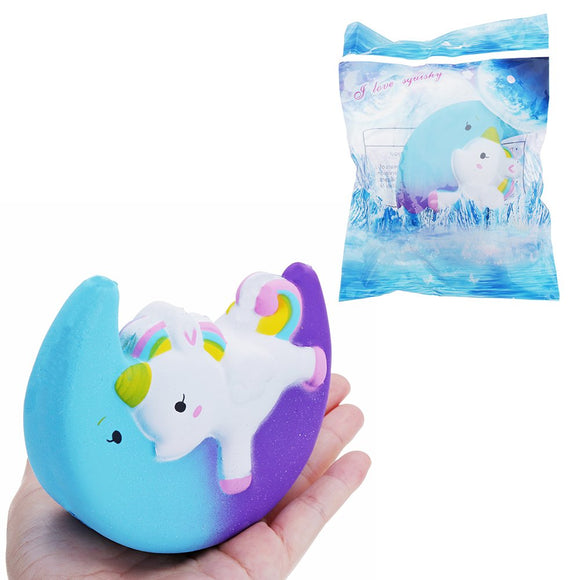 Cartoon Unicorn Moon Galaxy Pegasus Squishy Kawaii Squeeze Toy 11cm Sweet Slow Rising