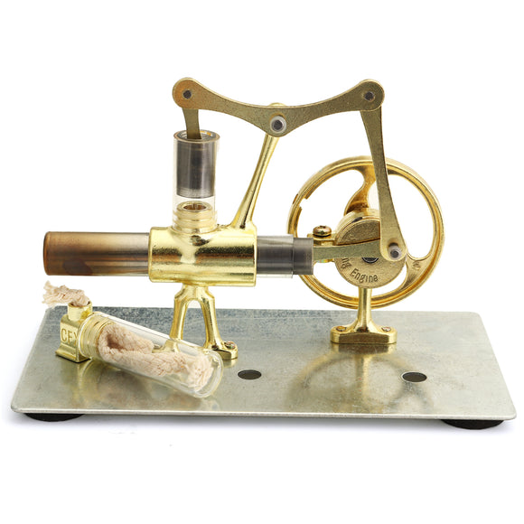 Mini Hot Air Stirling Engine Model Single Cylinder Engine Collection Gift