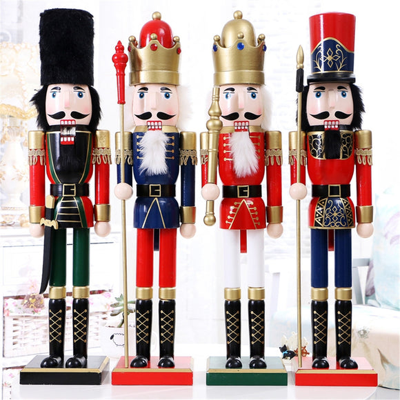 60cm Nut Cracker Soldier Christmas Decoration Nutcrackers Xmas Kitchen Wooden Doll