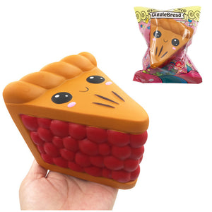 GiggleBread Sandwich Pizza Squishy 11*11.5*9.5CM Licensed Slow Rising With Packaging Collection Gift
