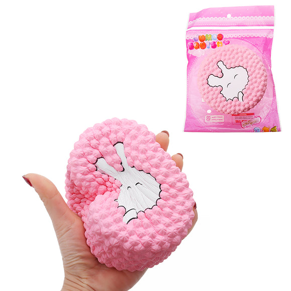 Squishy Rabbit Cake Pink Soft Toy 12x5.5cm Slow Rising With Packaging Collection Gift Soft Toy