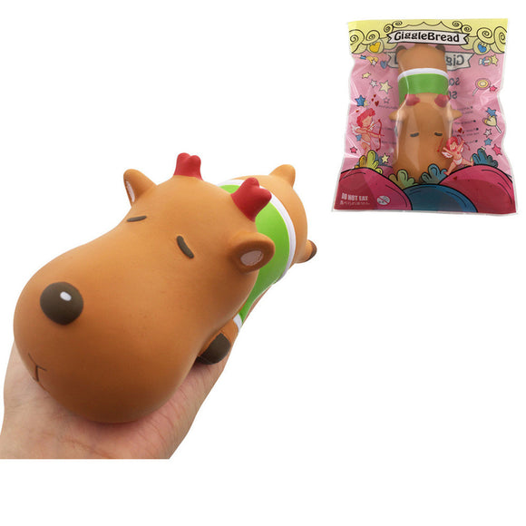 GiggleBread Christmas Deer Squishy 15*6.5*6CM Licensed Slow Rising With Packaging