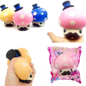 Mushroom Doll Squishy 13*10.5cm Slow Rising With Packaging Collection Gift Soft Toy
