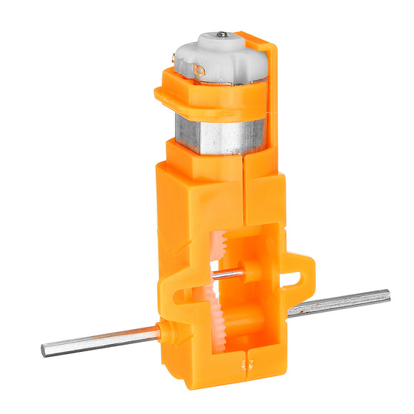 3pcs 1:28 Orange Hexagonal Axis 130 Motor Gearbox for DIY Chassis Car Model