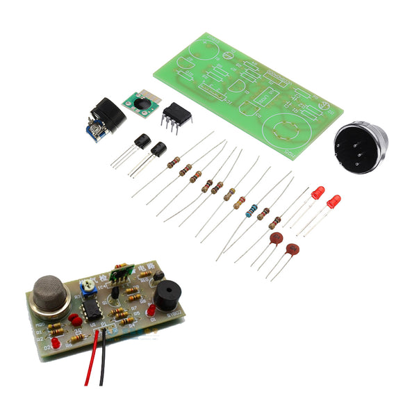 3pcs DIY MQ5 Gas Detection Alarm Circuit Kit Gas Sensor Module Kit