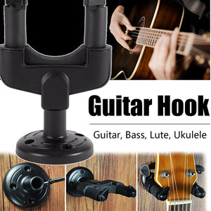 Automatic Removable Guitar Wall Hanger Holder Stand Ukulele Rack Hook Mount Musical Instrument