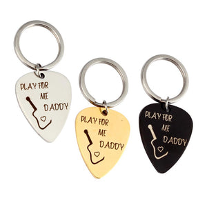1Pcs Stainless Steel Guitar Picks with Keychain or Pendant Necklace