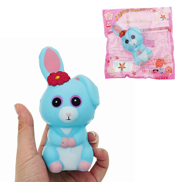 Long Ears Rabbit Squishy 12*6*6.5CM Slow Rising With Packaging Collection Gift Soft Toy