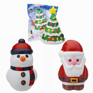 Cooland Santa Claus Christmas Snowman Tree Squishy Soft Slow Rising With Packaging