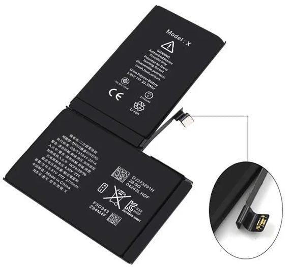 Replacement Battery for iPhone X,  2716mAh