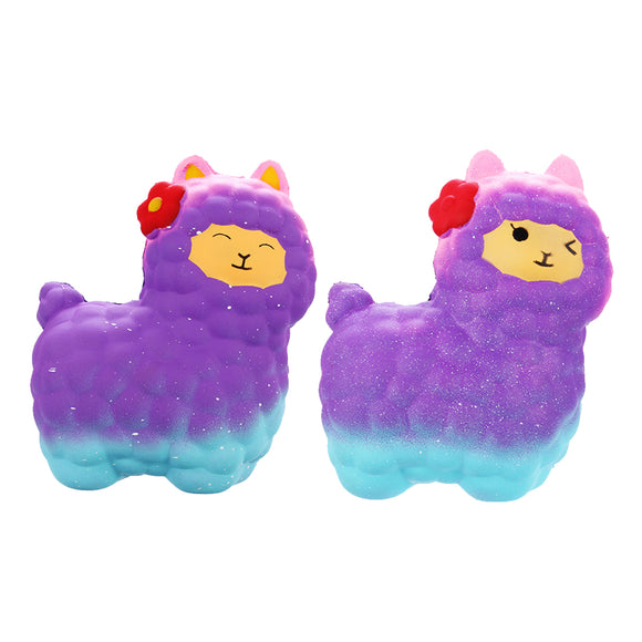 Jumbo Sheep Squishy Cute Alpaca Galaxy Super Slow Rising Scented Fun Animal Toys