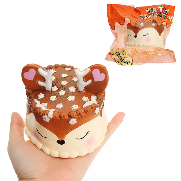 Eric Chocolate Deer Fawn Cake Squishy 10CM Slow Rising Soft Collection Gift