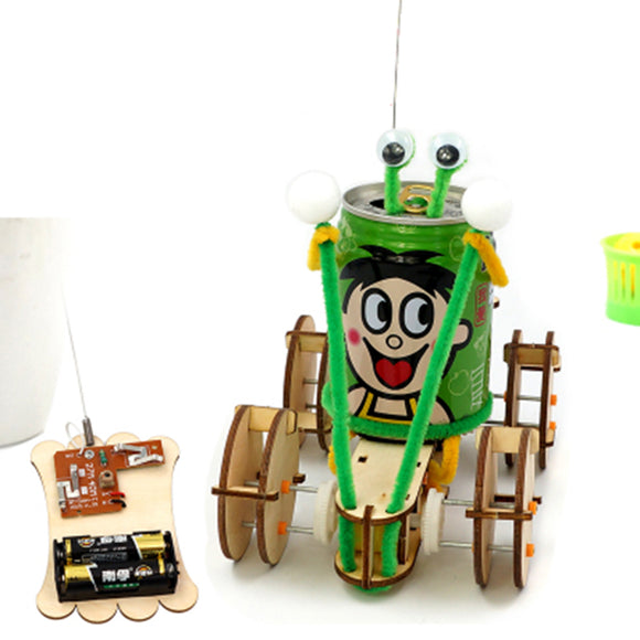 DIY Educational Electric 4CH Jumper Robot Car Scientific Invention Toys