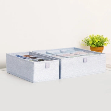 Original Xiaomi Mi Home 2PCS Underwear Storage Box Foldable Bra Sock Underwear Drawer Organizer