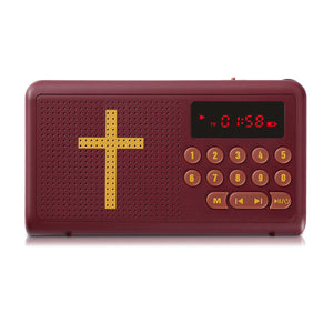 Electronic Amplified Audio Bible MP3 Media Player Mini Radio Support LED Light TF Card Time Display