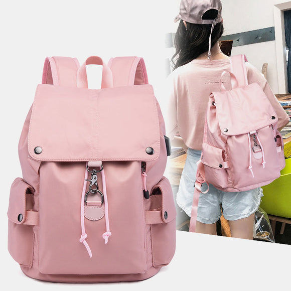 Men Women Nylon Waterproof Fashion Casual Anti-Theft Backpack