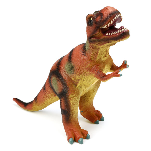 Large 21 Soft Stuffed Rubber Dinosaur T-Rex Tyrannosaurus Play Toy Animal Figures Diecast Model