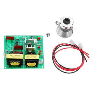 AC 220V 100W Ultrasonic Cleaner Driver Power Board With 1Pc 60W 40K Transducer Square