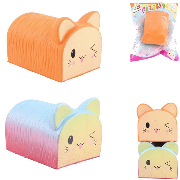 Sunny Squishy Cat Kitten Toast Bread 12.5cm Soft Slow Rising Collection Gift Decor Toy With Packing