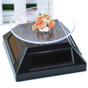 Solar Showcase 360 Turntable Rotation Display Stand For Displaying Jewelry Watch Ring Phone