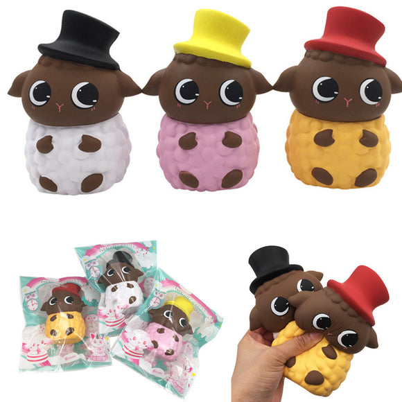 SquishyFun Hat Sheep Lamb Squishy 15*11*8.5CM Licensed Slow Rising With Packaging Collection Gift