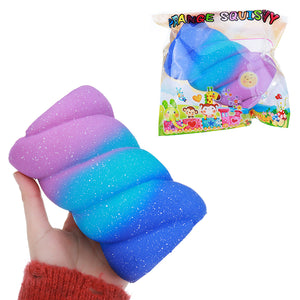 Orange Squishy 14CM Soft Cotton Candy Marshmallow Toys Slow Rising Fun Kid Gift With Packaging
