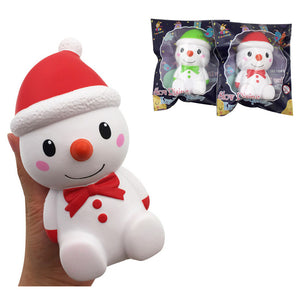 Taburasaa Christmas Snowman Squishy 15*7.5*7.5CM Licensed Slow Rising With Packaging