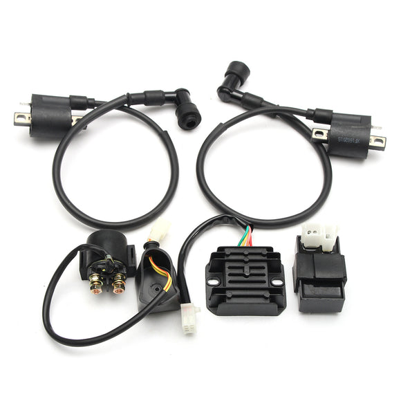 150cc 200cc 250cc Ignition Coil CDI Regulator Rectifier Relay Set ATV Quad