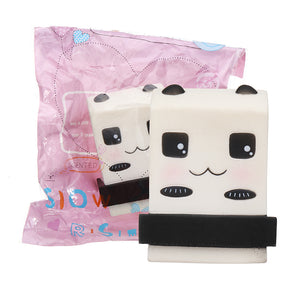 Panda Milkshake Squishy 10*9CM Slow Rising Soft Toy Gift Collection With Packaging