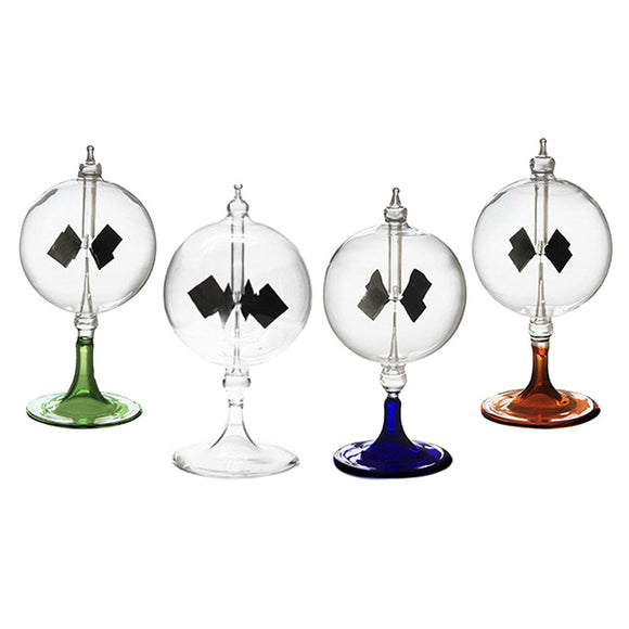 Science Education Gift Glass Crookes Radiometer 4 Blades Windmill Solar Light