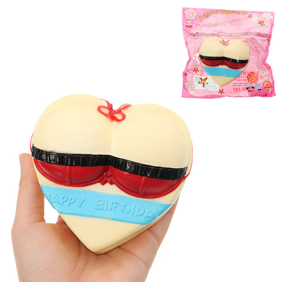 Swimsuit Love Cake Squishy 10*5*11cm Slow Rising With Packaging Collection Gift Soft Toy