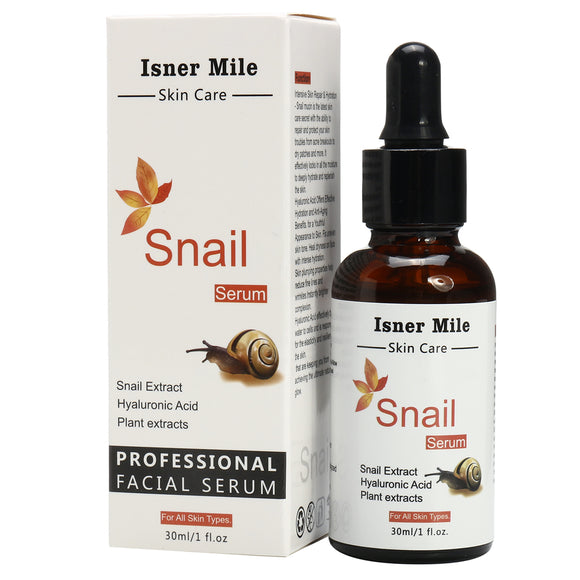 Isner Mile Snail Serum Repairing Hyaluronic Acid Plant Extract Moisturizing Skin Care 30ml