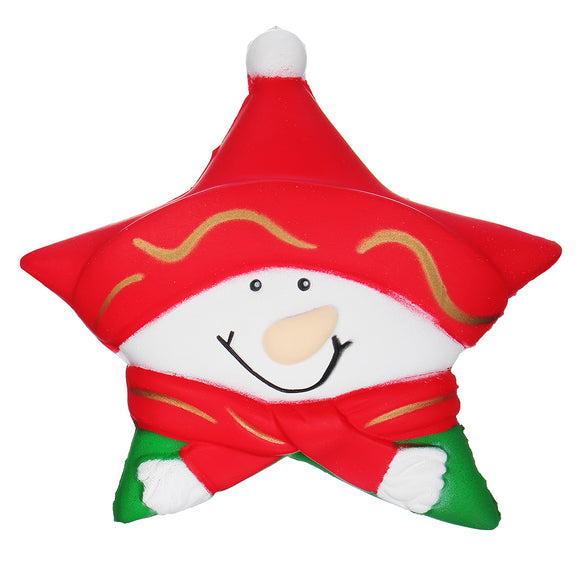 Squishy Snowman Stars Christmas Gift 12.5CM Decoration With Packaging Collection
