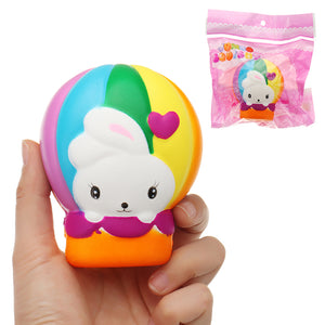 Hot Air Balloon Rabbit Squishy 10*9CM Slow Rising With Packaging Collection Gift Soft Toy