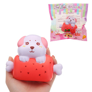 LeiLei Puppy Dog Bone Bread Squishy 11cm Slow Rising With Packaging Collection Gift Soft Toy