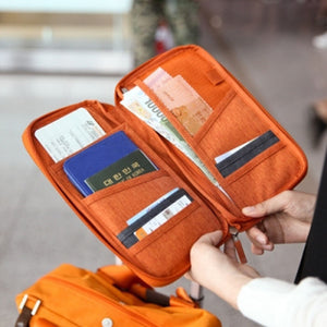 Honana HN-PB7 6 Colors Portable Passport Holder Durable Large Tickets Credit Cards Organizer Travel