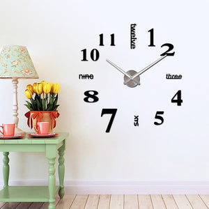 3D Creative Wall Clocks  Home Decorations Crafts