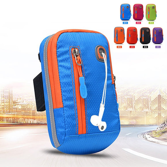 Women Nylon Waterproof Arm Bag Running Phone Bag Crossbody Bag