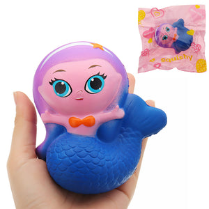 Mermaid Squishy 10*9.5*6CM Slow Rising With Packaging Collection Gift Soft Toy