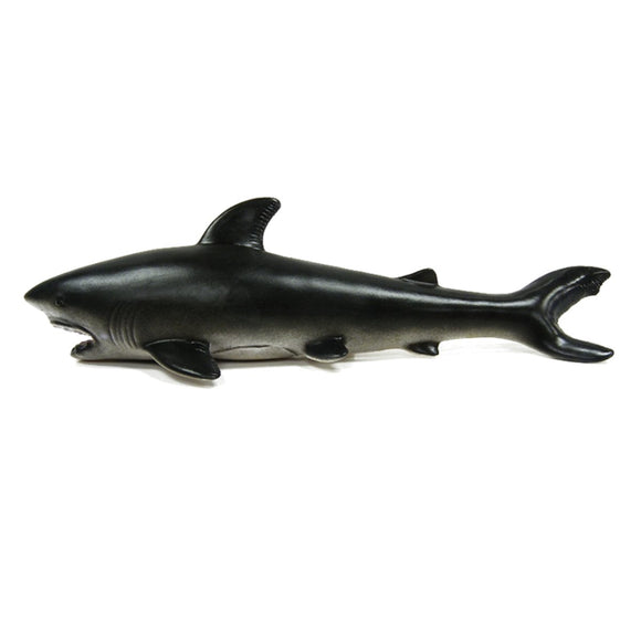 30cm Great White Shark Realistic Rubber Sea Animal Figure Toy Diecast Model