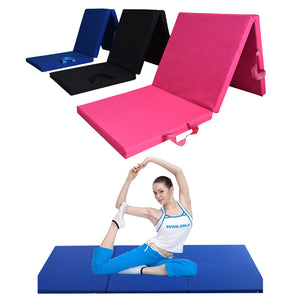 70x23x1.9inch 3 Folding Panel Gym Mat Sports Fitness Yoga Exercise Floor Pad 600D Oxford PU Leather