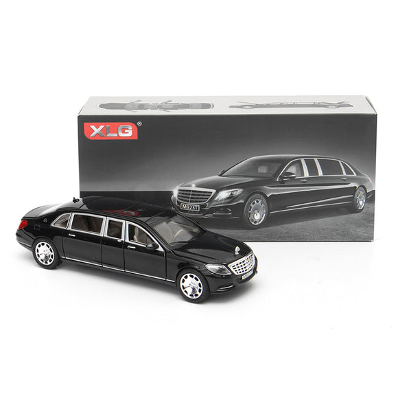 1:24 S600 Limousine Diecast Metal Car Model 20.5 x 7.5 x 5cm Car in Box Black