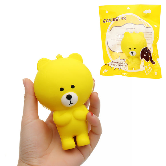 Colorful Bear Squishy 11*7.5CM Slow Rising With Packaging Collection Gift Soft Toy