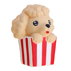 Popcorn Puppy  Squishy 8*6.7*10cm Slow Rising With Packaging Collection Gift Soft Toy